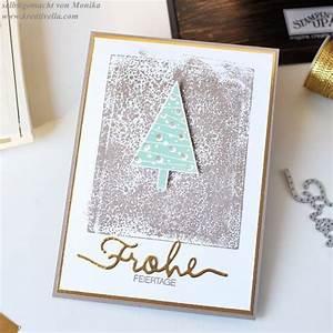 Edle Weihnachtskarten Basteln : clean and simple edle weihnachtskarte tannenbaum in ~ A.2002-acura-tl-radio.info Haus und Dekorationen