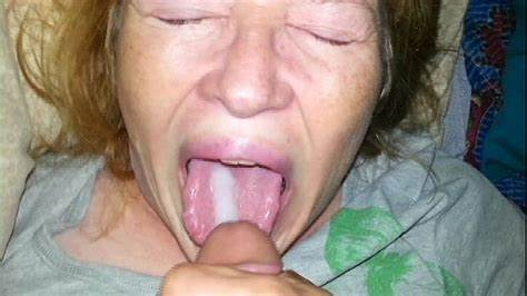 She Cumshot From His Tounge Fake Guy Feeds His Aunties Jizz And She Eats Every Drop