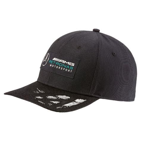 Puma mercedes amg petronas silver arrows flatbrim cap 022522. 2017, Black, Adult, Puma Mercedes Logo Baseball Cap