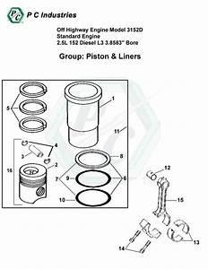 Off Highway Engine Model 3152d Standard Engine 2 5l 152