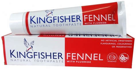 Kingfisher Dabīgā fluorīdu saturoša zobu pasta ar fenheli, 100ml 1140 | Mutes higiēnai ...