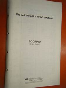 1988 Ford Scorpio Factory Wiring Diagram Sheets Manual