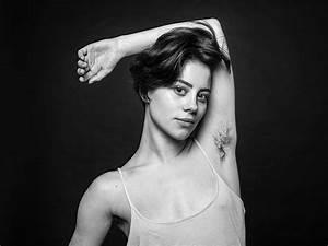 Natural and hairy woman armpit