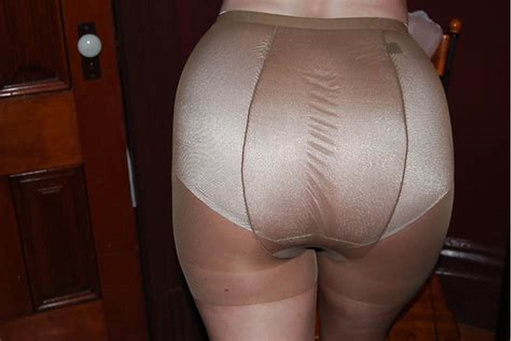 #Mature #Woman #In #White #Full #Cut #Panties #And #Pantyhose