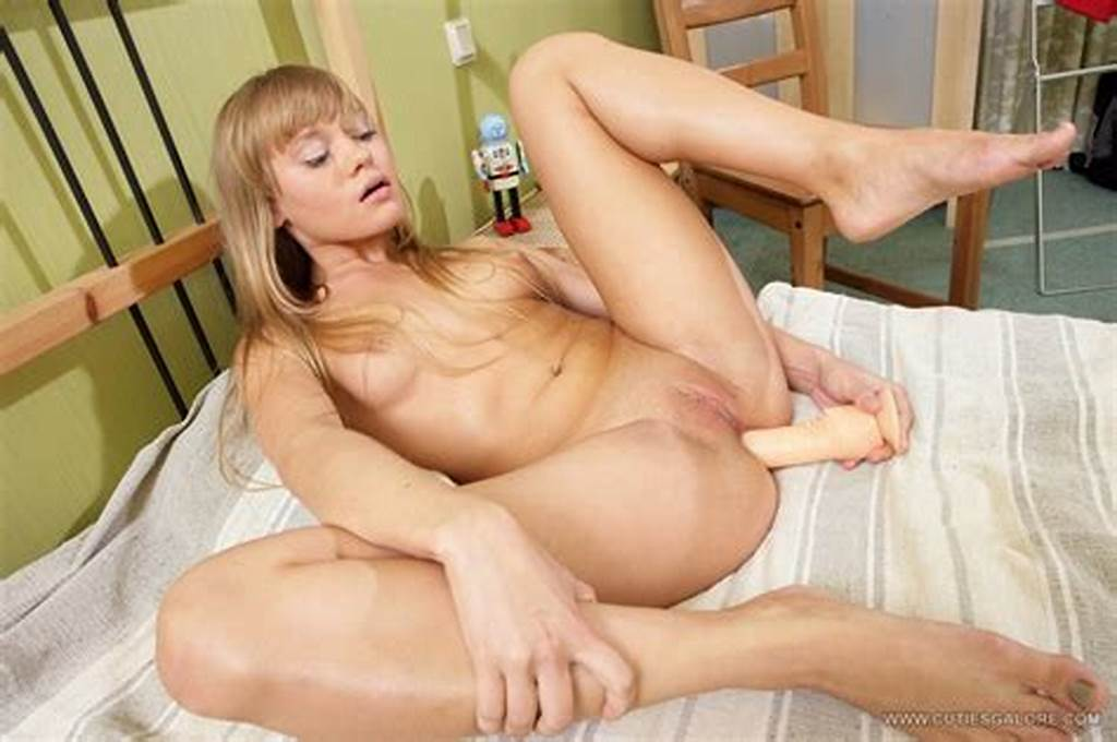 #Teen #Cutie #Nestee #Shy #Posing #And #Playing #With #A #Dildo