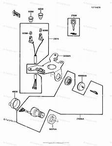 Kawasaki Atv 1986 Oem Parts Diagram For Ignition Switch