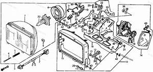 Honda Scooter 1984 Oem Parts Diagram For Headlight