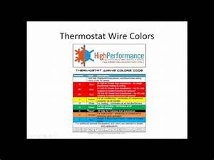 Ac Control Wiring Color Code : air conditioner thermostat wiring and colors code youtube ~ A.2002-acura-tl-radio.info Haus und Dekorationen
