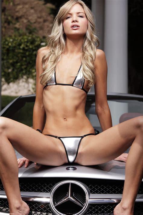 Franziska Facella In Mercedes Benz Sl Redbust
