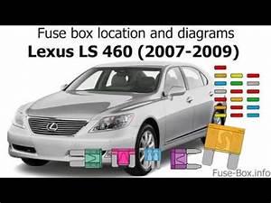 2011 Lexus Is350 Fuse Box Diagram : fuse box location and diagrams lexus ls460 2007 2009 ~ A.2002-acura-tl-radio.info Haus und Dekorationen