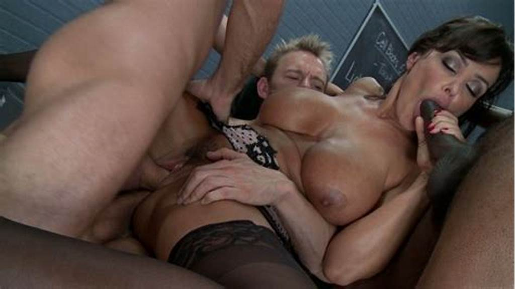 #Lisa #Ann #Takes #One #Cock #In #Her #Ass #Another #Cock #In #Her