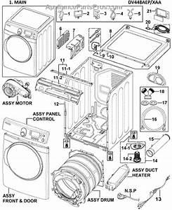 Parts For Samsung Dv448aep  Xaa-0000  Main Assy Parts