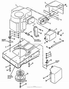 Snapper Lt145h38dbv 38 U0026quot  14 5 Hp Hydro Drive Tractor Series D Parts Diagram For Engine Components