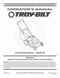 34 Parts Diagram For Troy Bilt Lawn Mower