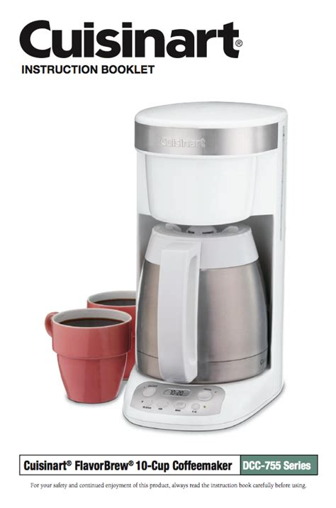 If you use your coffee maker at least twice or thrice a day, then you will need to do this at least once a month. Flavor Brew 10 Cup Coffeemaker (DCC-755/DLC-755BK) Product Manual   Coffee maker, Drip coffee ...