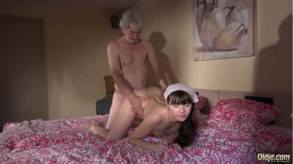 #Teen #Maid #Has #Sex #With #A #Skinny #Old #Man