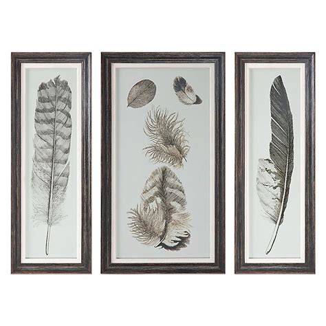 148 results for umbra wall decor. Uttermost Feather Study Wall Art Prints (Set of 3) | Bed Bath & Beyond