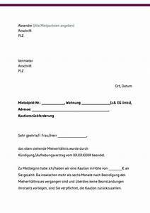 Rückzahlung Kaution Frist : kaution gratis vorlagen und musterschreiben downloaden ~ A.2002-acura-tl-radio.info Haus und Dekorationen