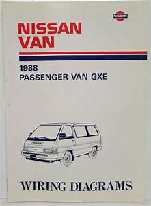1988 Nissan Passenger Van Gxe Electrical Wiring Diagram Manual