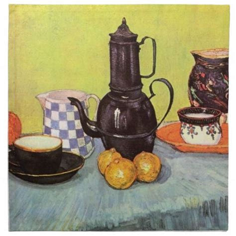 Merry christmas from gogh gogh coffee company and lounge.come into gogh gogh lounge tomorrow for our christmas special buy one get one free latte,coldbrew or hot chocolate.mention this ad when you come in. Van Gogh Blue Enamel Coffeepot, Earthenware, Fruit | Van gogh still life, Vincent van gogh ...