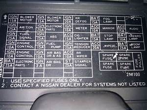 95 Nissan Sentra Fuse Box Diagram