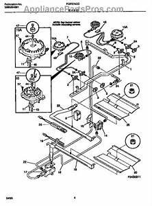 Parts For Frigidaire Fgf374ccsa  Burner Parts