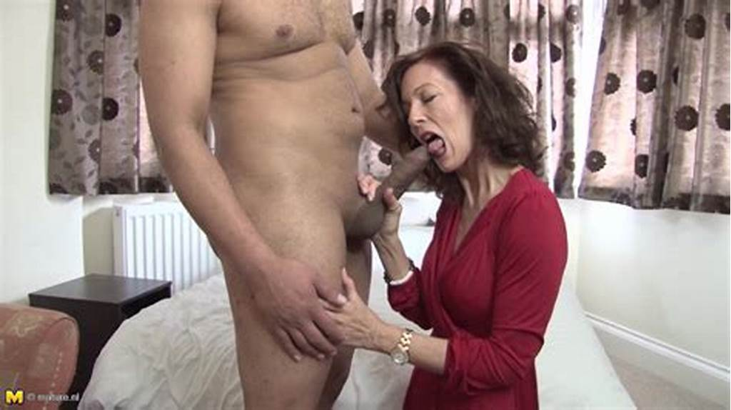 #Skinny #Mature #Woman #Sucking #Young #Cock