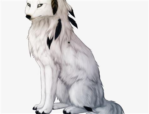 'arctic white wolf ' on black. Anime Female Arctic Wolf White Wolf - Ilmu Pengetahuan 4 ...