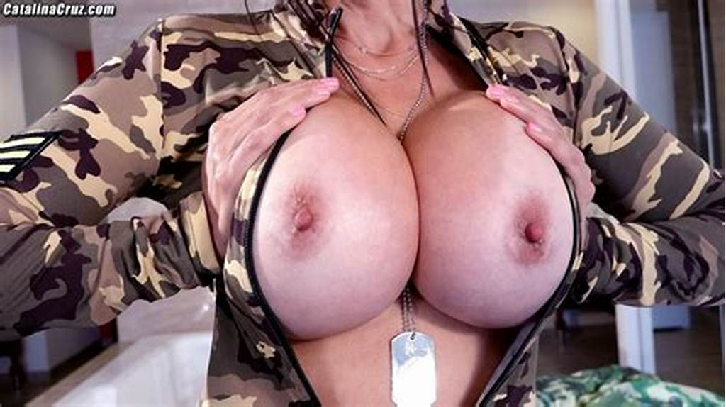 #Busty #Drill #Sergeant #Catalina #Cruz #Big #Tits #Popping #Out #Of