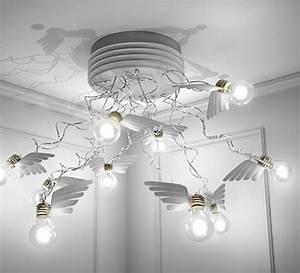 Ingo Maurer Birdie : plafonnier birdie 39 s nest led blanc transparent 95cm ~ Watch28wear.com Haus und Dekorationen