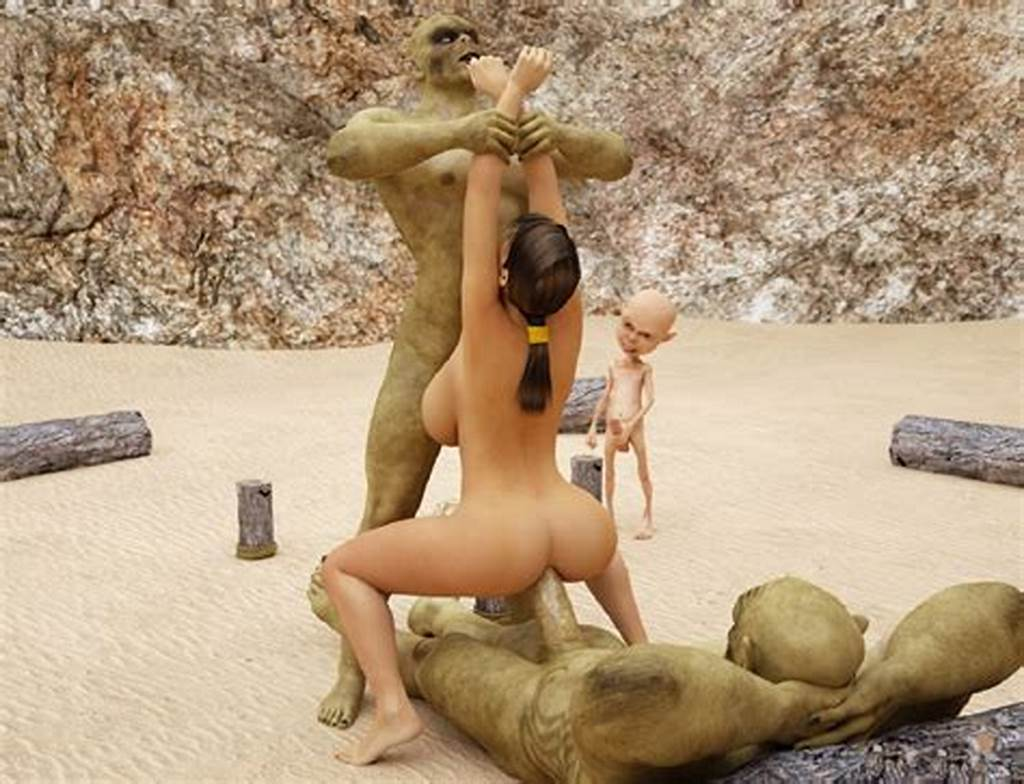 #Amazing #View #Of #Lara #Croft'S #3D #Anal #Affair #With #A #Monster