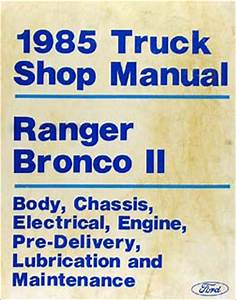 1985 Ford Pickup And Van Service Specifications Book Original