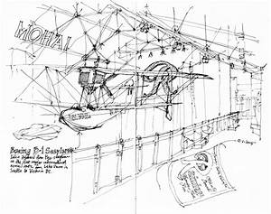 Seaplane Drawing At Getdrawings