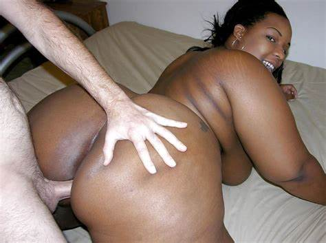 Spunky Black Bbw Interracial Assfucking