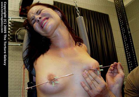 Camgirl Painful Massive Boobs Tough Titty Torture Skewer