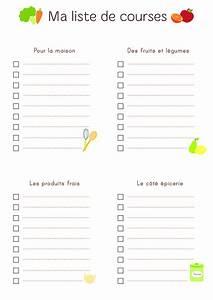 Liste De Courses À Imprimer Gratuitement : planning repas vierge imprimer planning vierge menu de la ~ Nature-et-papiers.com Idées de Décoration
