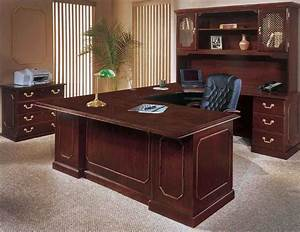 Executive home office furniture with wooden office desk for Wood office desk furniture