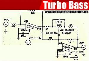 Sirkitelektronika  Rangkaian Turbo Giga Bass Dengan Ic Lm324