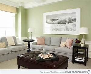 15 lovely grey and green living rooms decoration for house for Green and grey living room