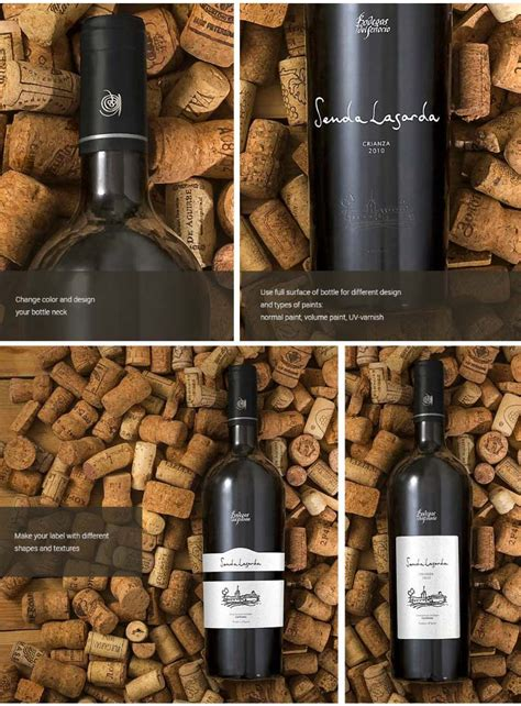 Dear visitor, you went to the site as unregistered user. 36 Elegant Wine Bottle Mockup PSD and Label Templates ...