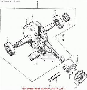 Honda C90 England Crankshaft - Piston
