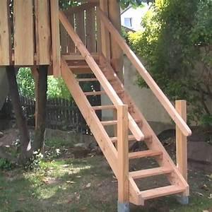 Haustür Treppe Selber Bauen : holztreppe selber bauen f r garten und terrasse ~ Watch28wear.com Haus und Dekorationen