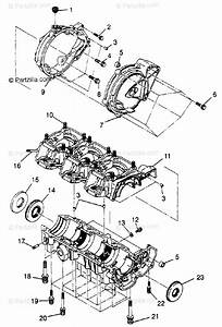 Polaris Watercraft 1997 Oem Parts Diagram For Crankcase
