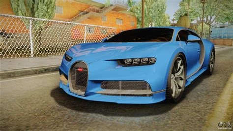 Bugatti on gta 5 no mods. Bugatti Chiron for GTA San Andreas