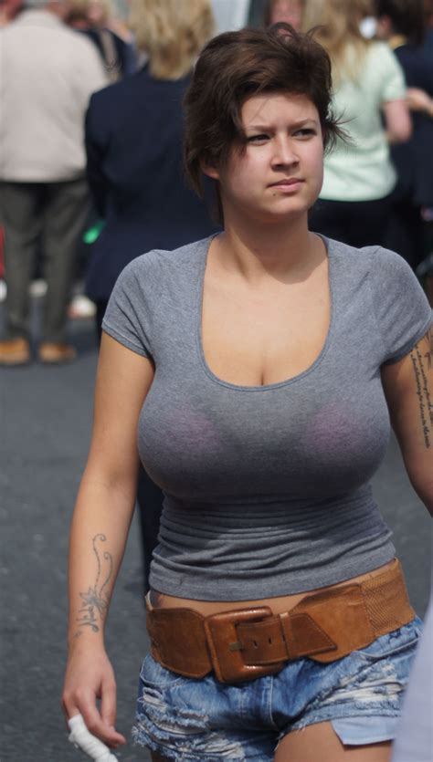 Large Boobs In See Thru Top