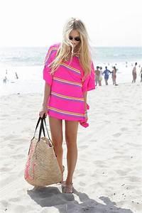 Skinny blonde teen in pink
