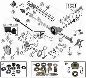 Diagrams    Axle Parts    Front Axle Diagram For Dana 30