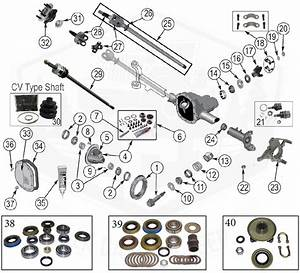 Diagrams    Axle Parts    Front Axle Diagram For Dana 30 Grand Cherokee Zj