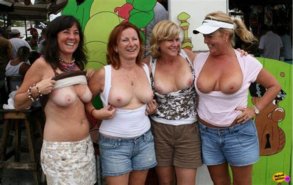 #Drunk #Milf #Whores #Pull #Up #Their #Tops #To #Show #Their #Tits #In