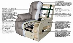 White Home Comfortable Recliner Sofa Chair Furniture